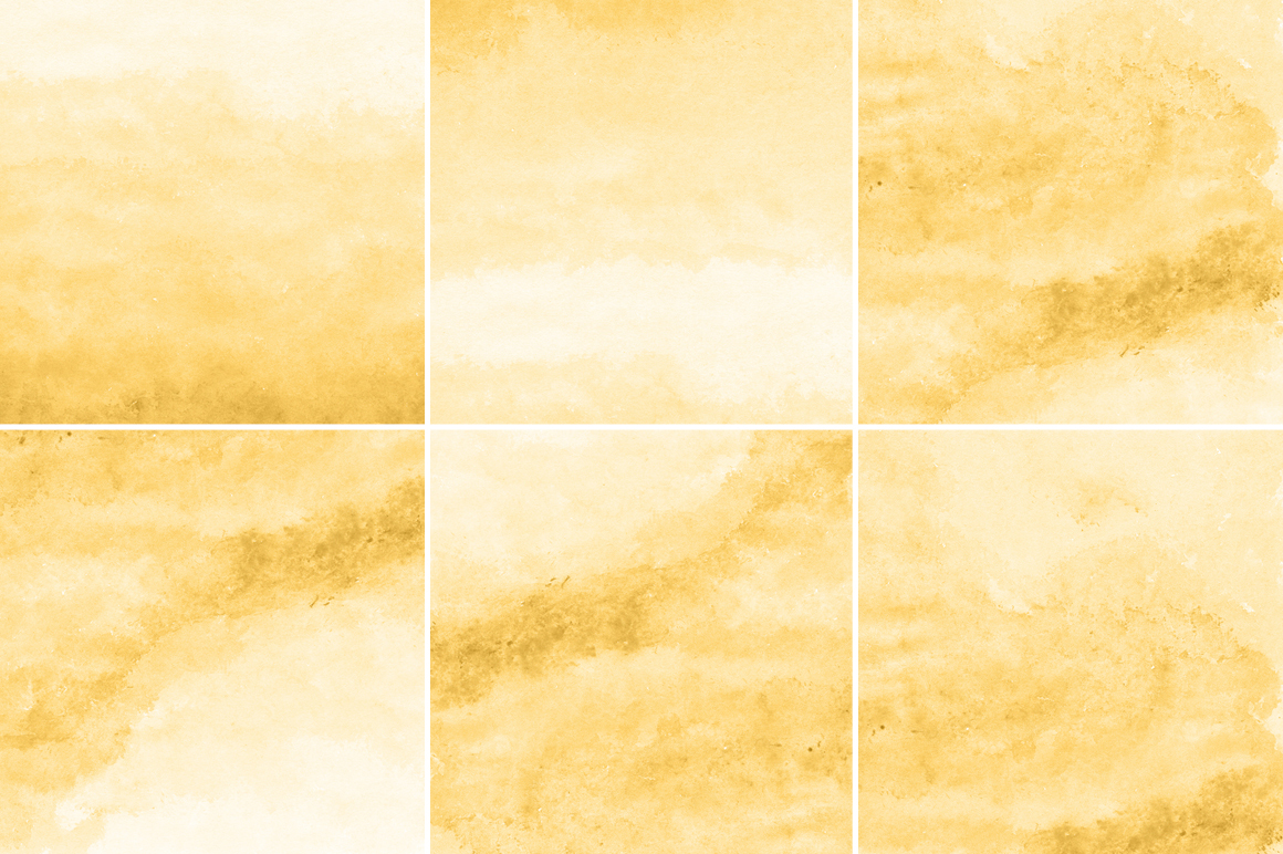 Yellow Gold Watercolor Texture Backgrounds example image 2