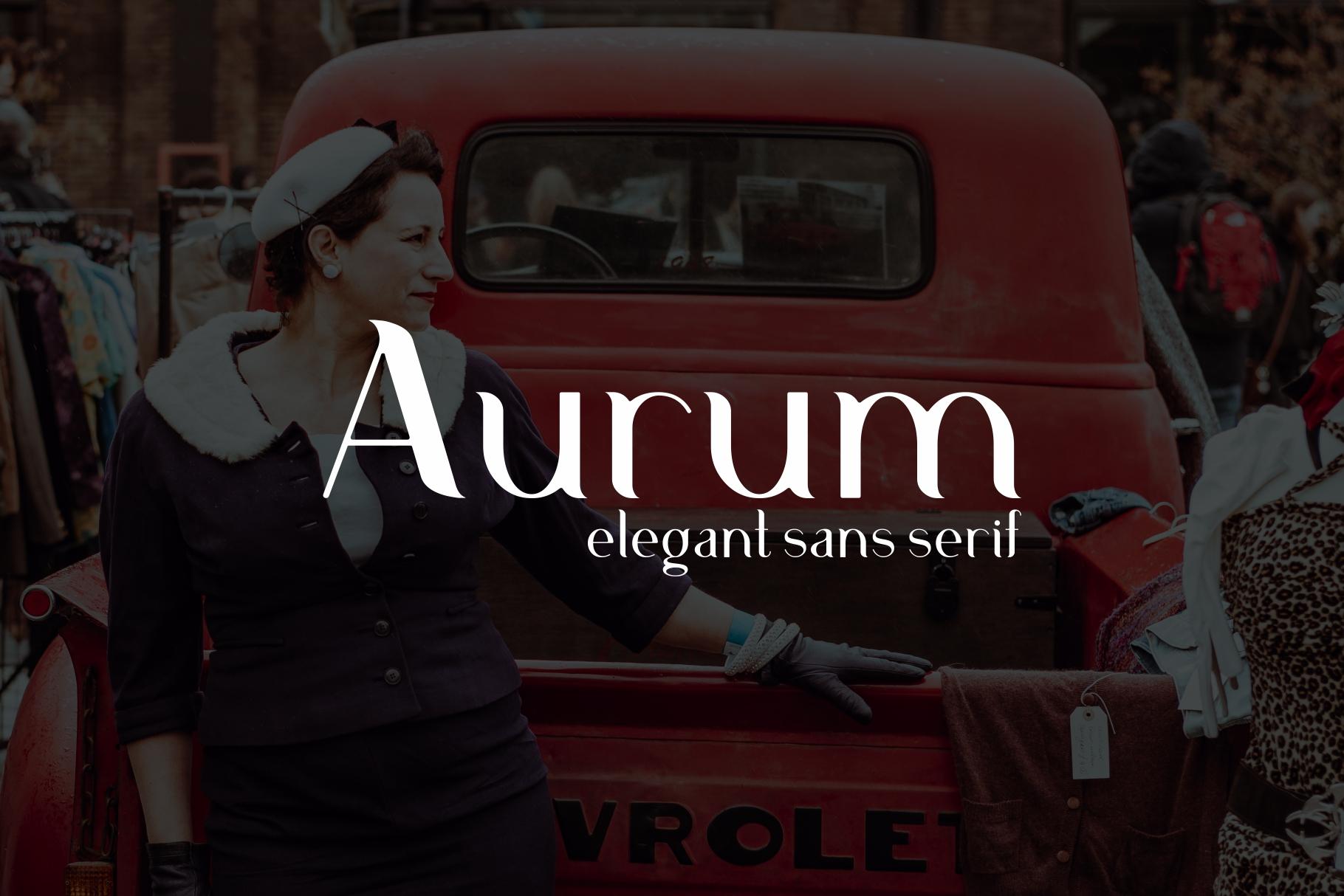 Aurum. Elegant Sans Serif typeface. example image 9