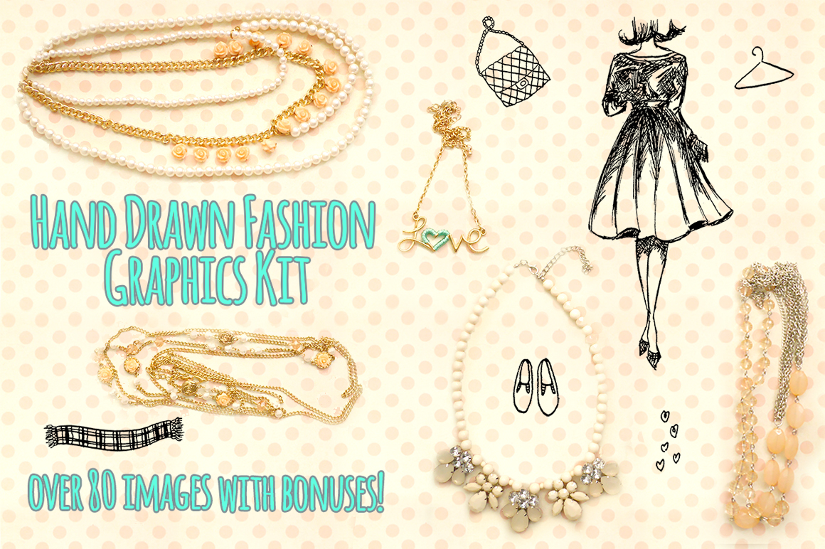 Fashion Blogger Vector Sketches Bundle example image 4
