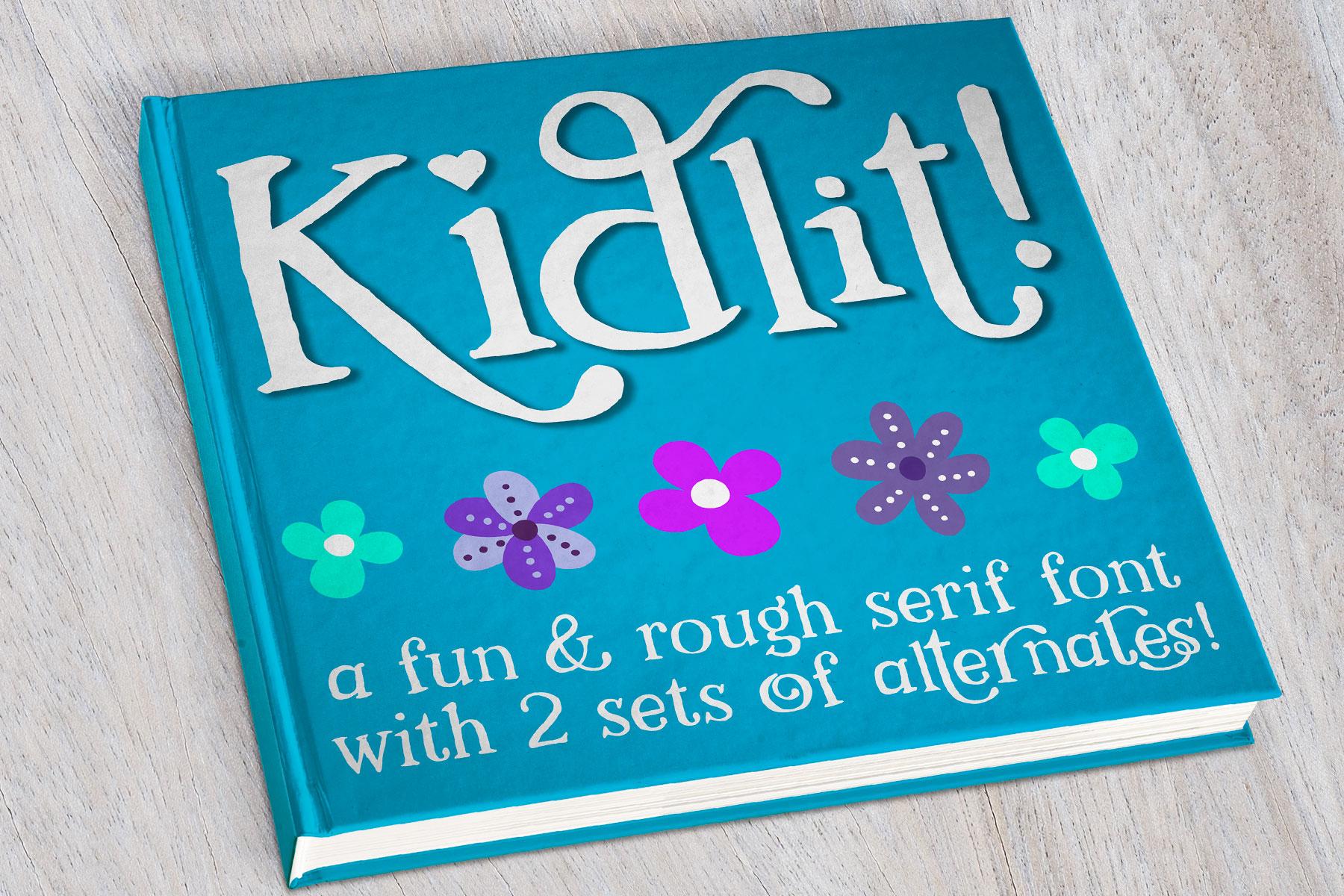 Kidlit - a fun serif font! example image 1
