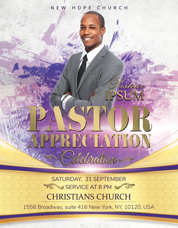 Pastor Appreciation Celebration Church Flyer example image 2