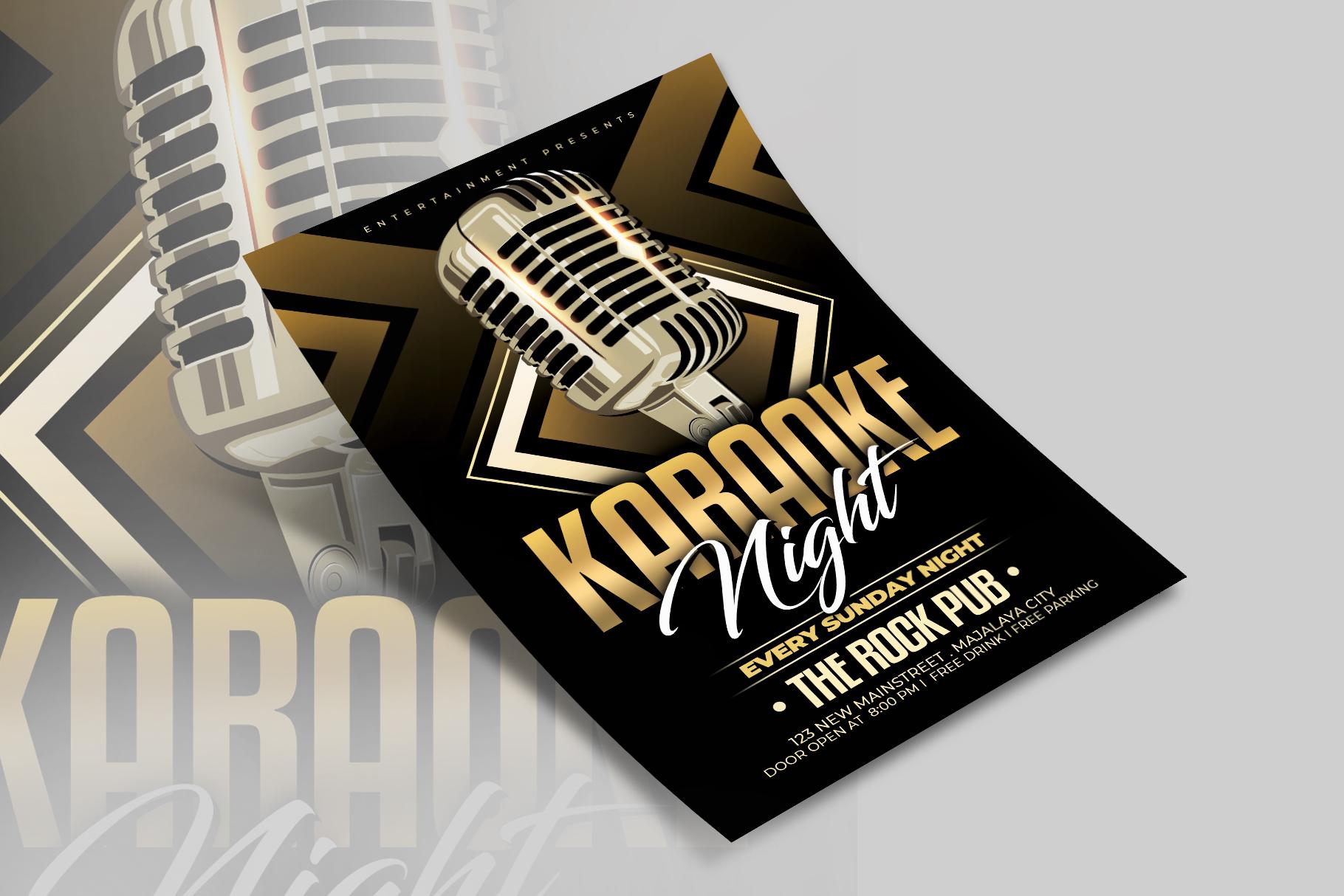Karaoke Flyer Template example image 3