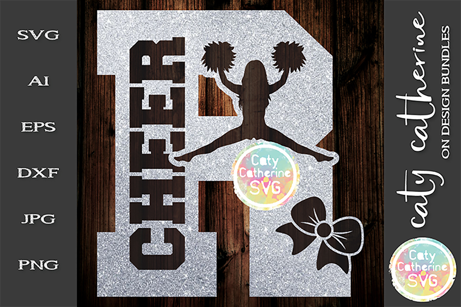 Letter R Cheerleading Monogram Letters SVG Cut File example image 1