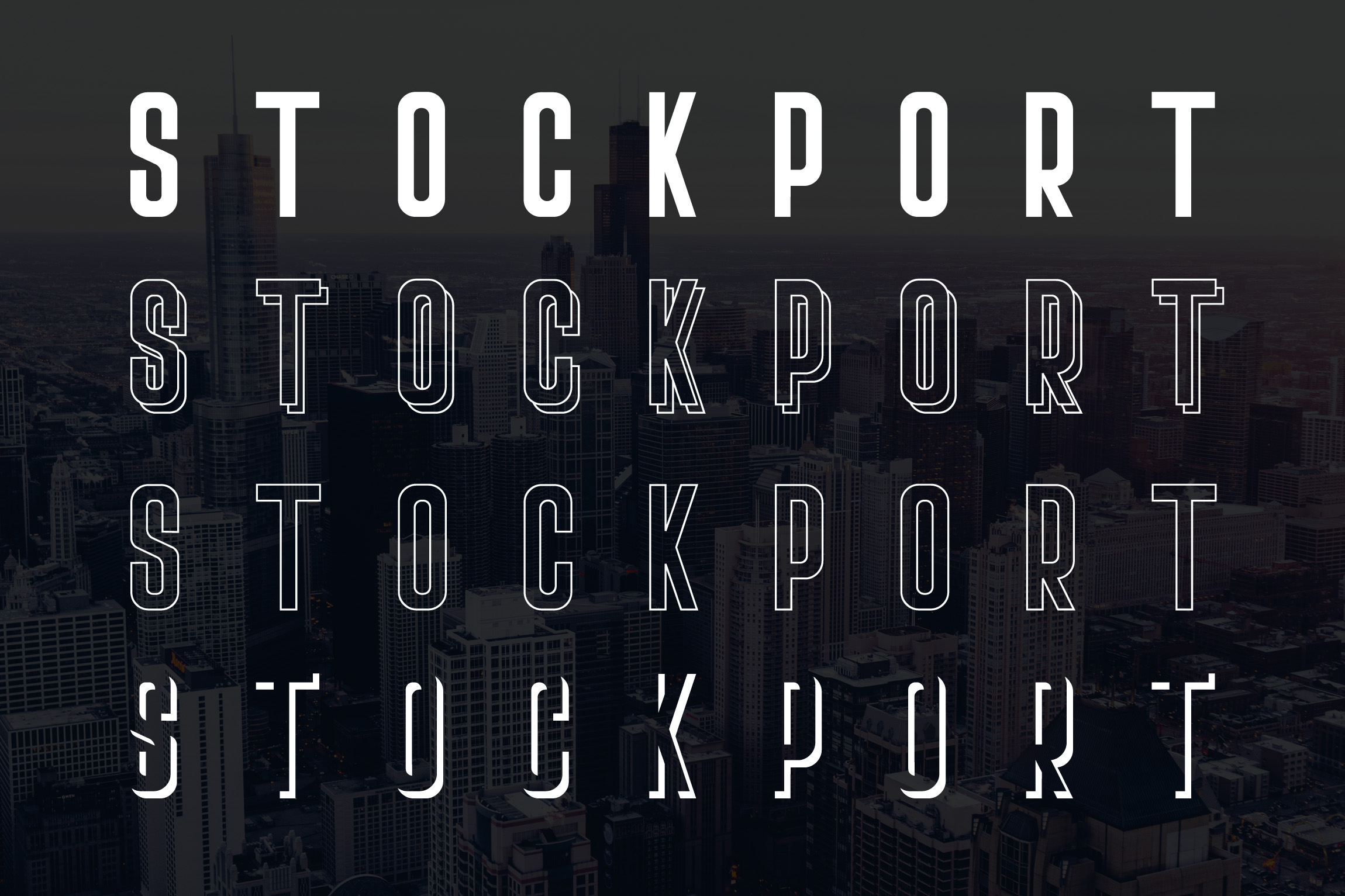 Stockport Font + Bonus Logo example 7