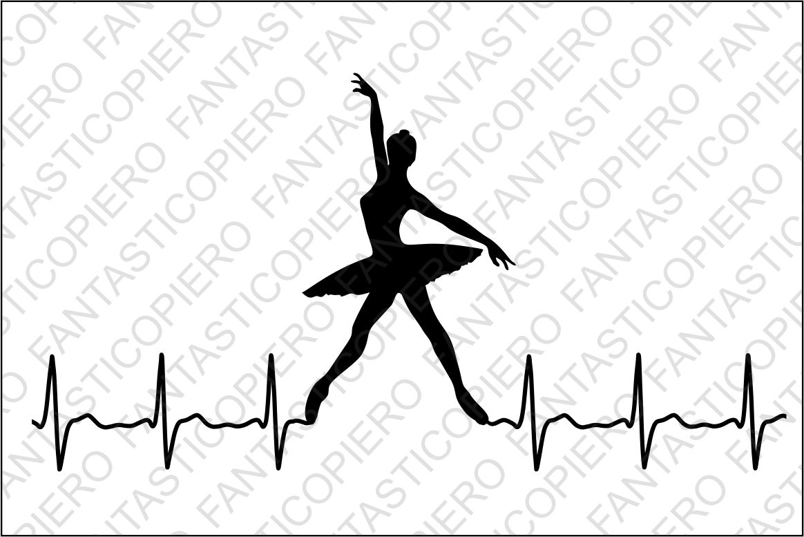 Cardio modern dancers SVG files for Silhouette and Cricut. example image 1