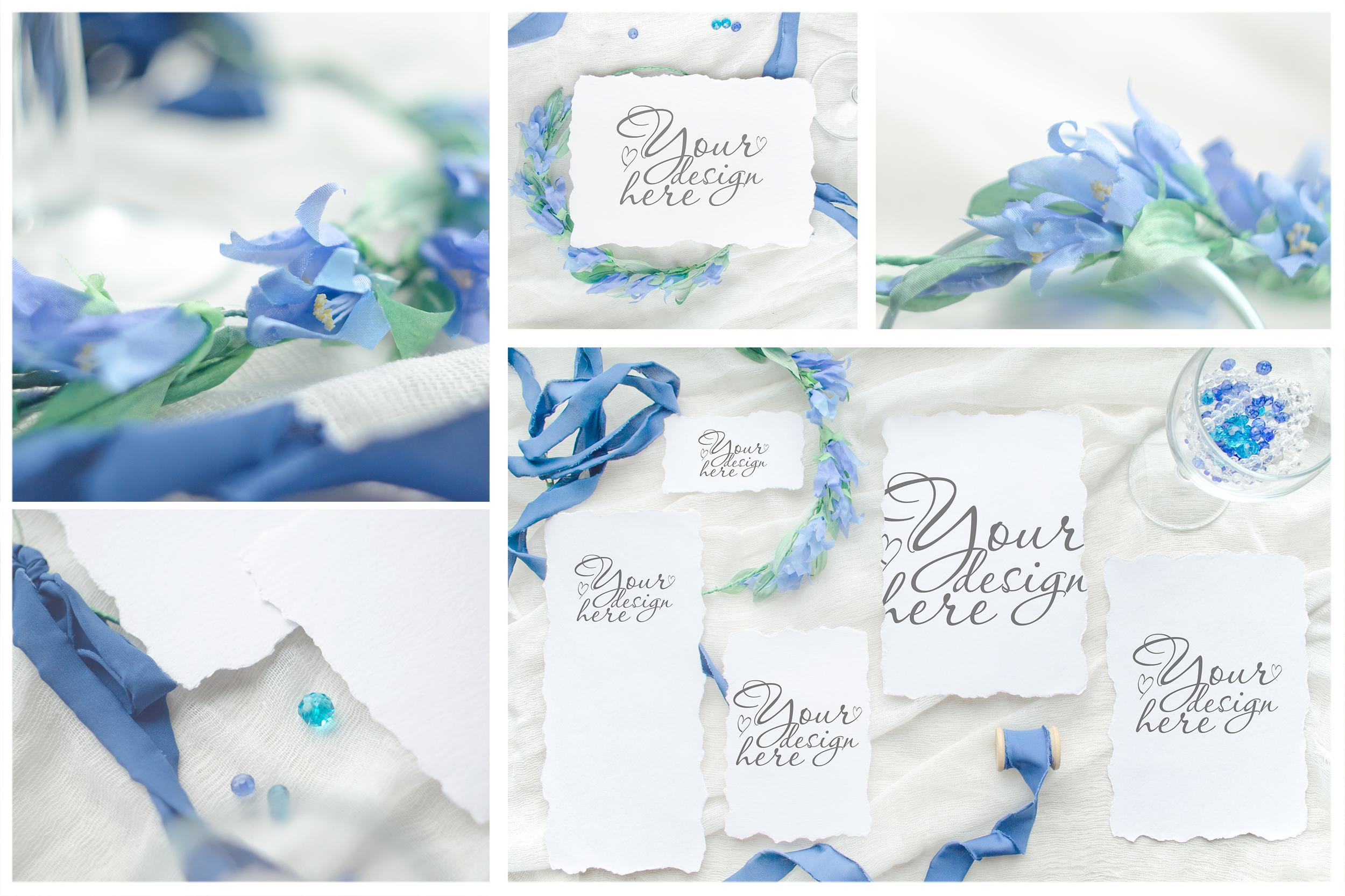 Something blue. Wedding mockups & stock photo bundle example image 13