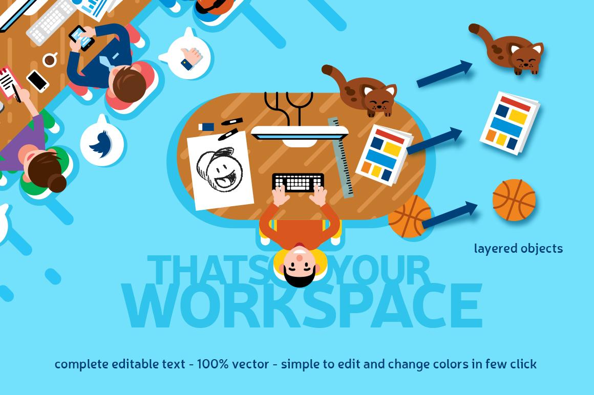 Office Workspace Scene Creator example image 2