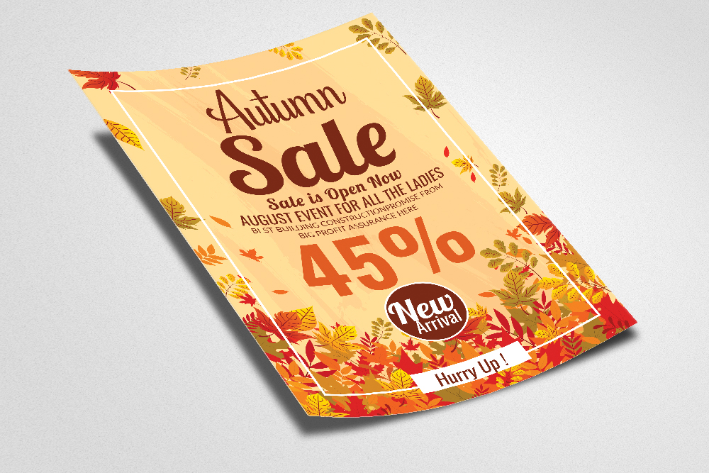 Autumn / Fall Sale Discount Offer Flyer example image 2