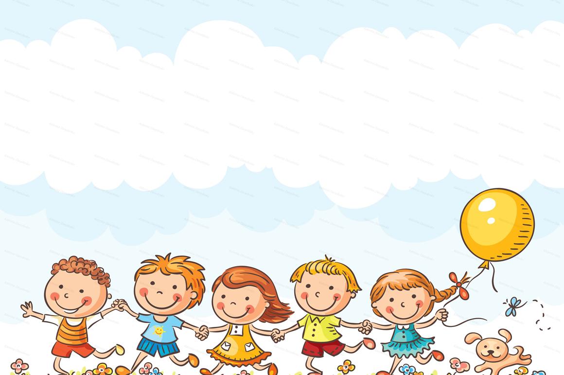 Happy Cartoon Kids Bundle, children doodle, kids doodle example image 19