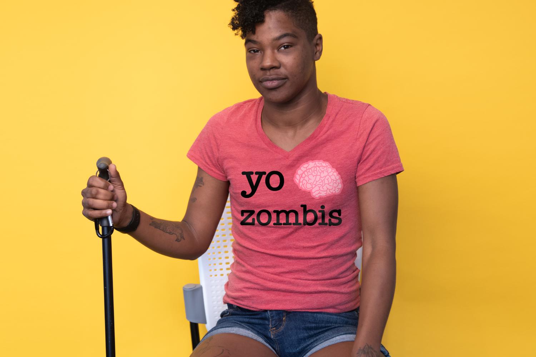 Yo Cerebro Zombis SVG File example image 1