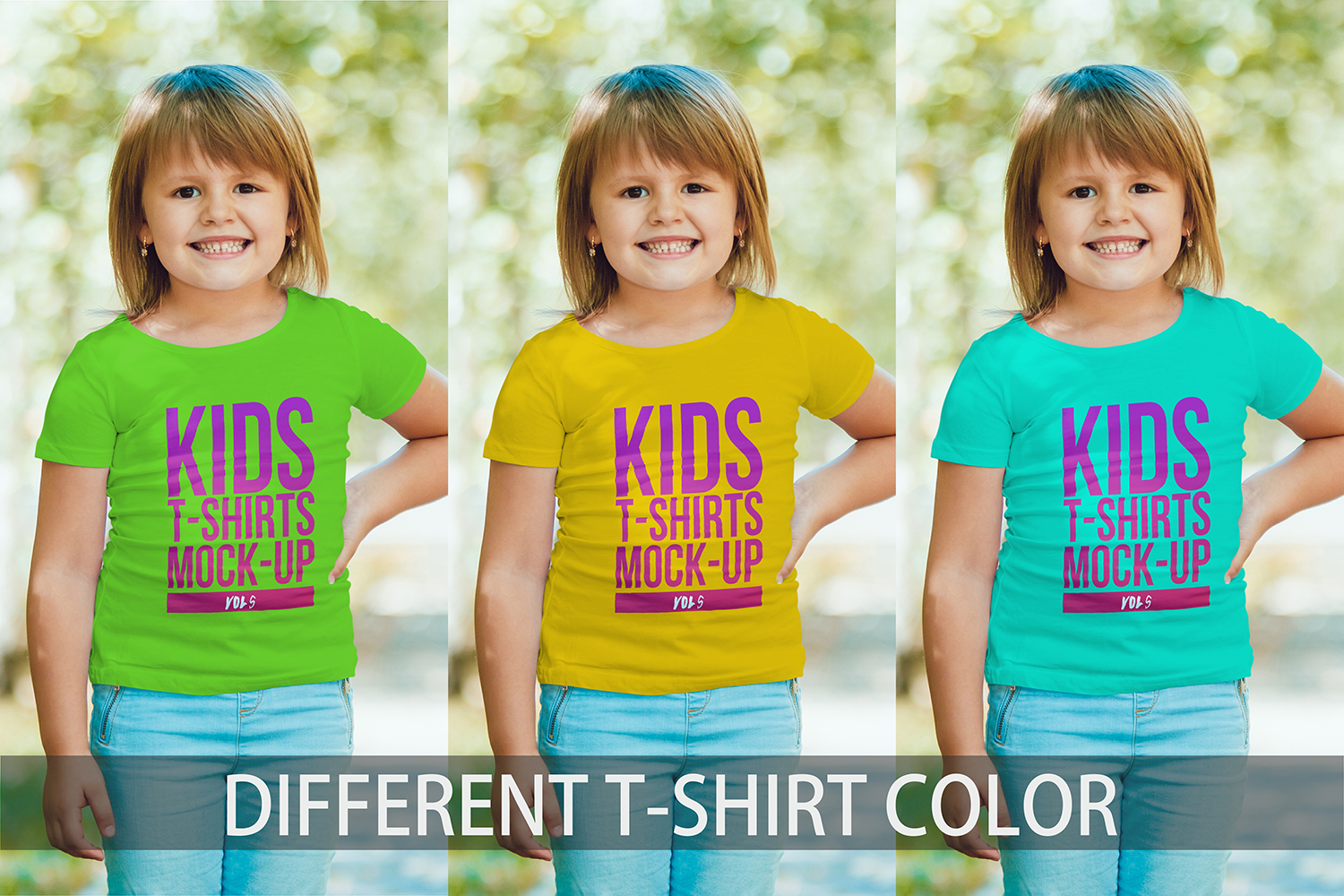 Kids T-Shirt Mock-Up Vol 5 example image 11