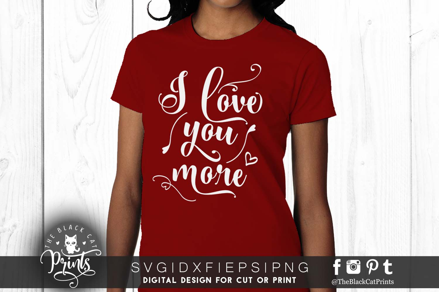I love you more SVG EPS PNG DXF Valentines svg example image 2