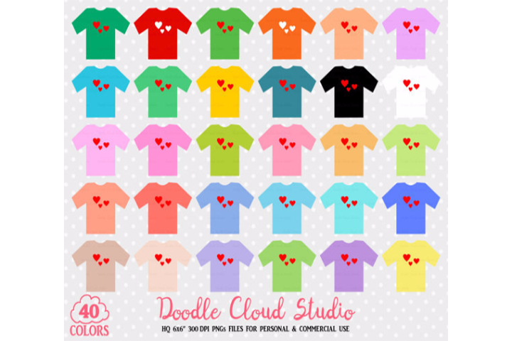 40 Colorful T-Shirt Clipart Cute Shirts PNG with Transparent Background for Personal & Commercial Use example image 2