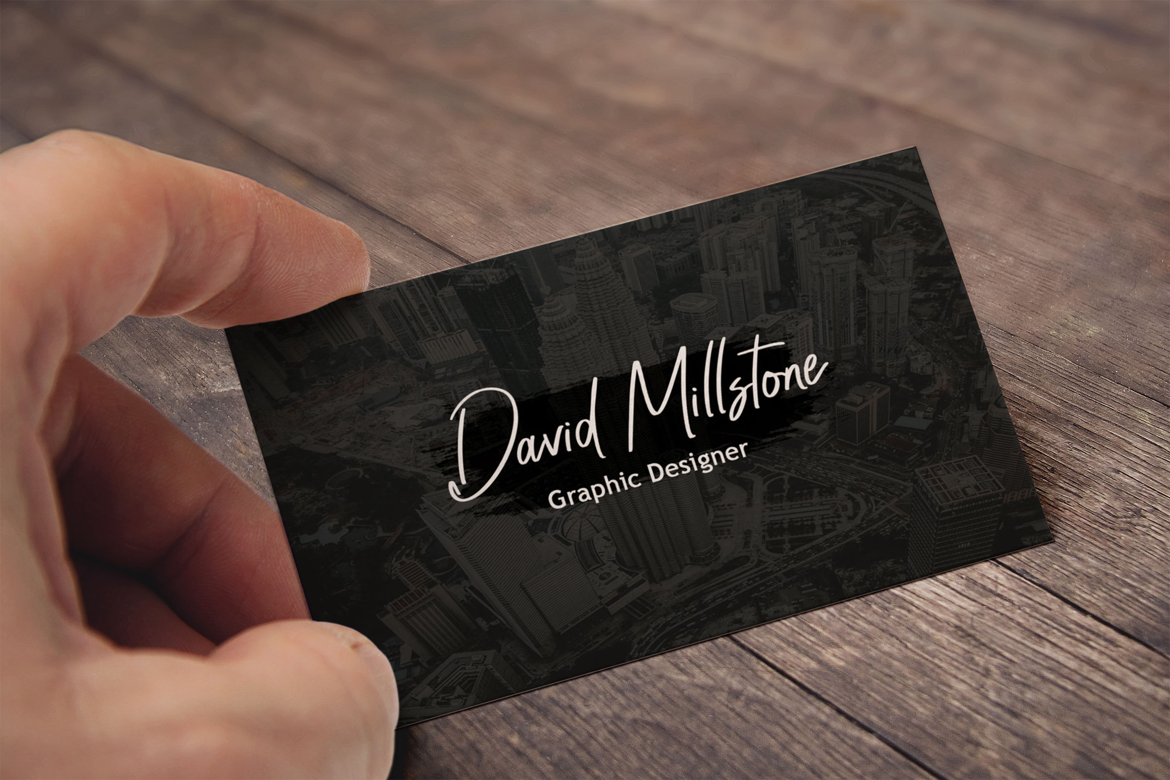 Creative business card template example image 2