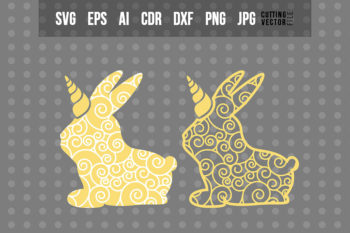 Bunny Unicorn - With Decorative Ornaments example image 1