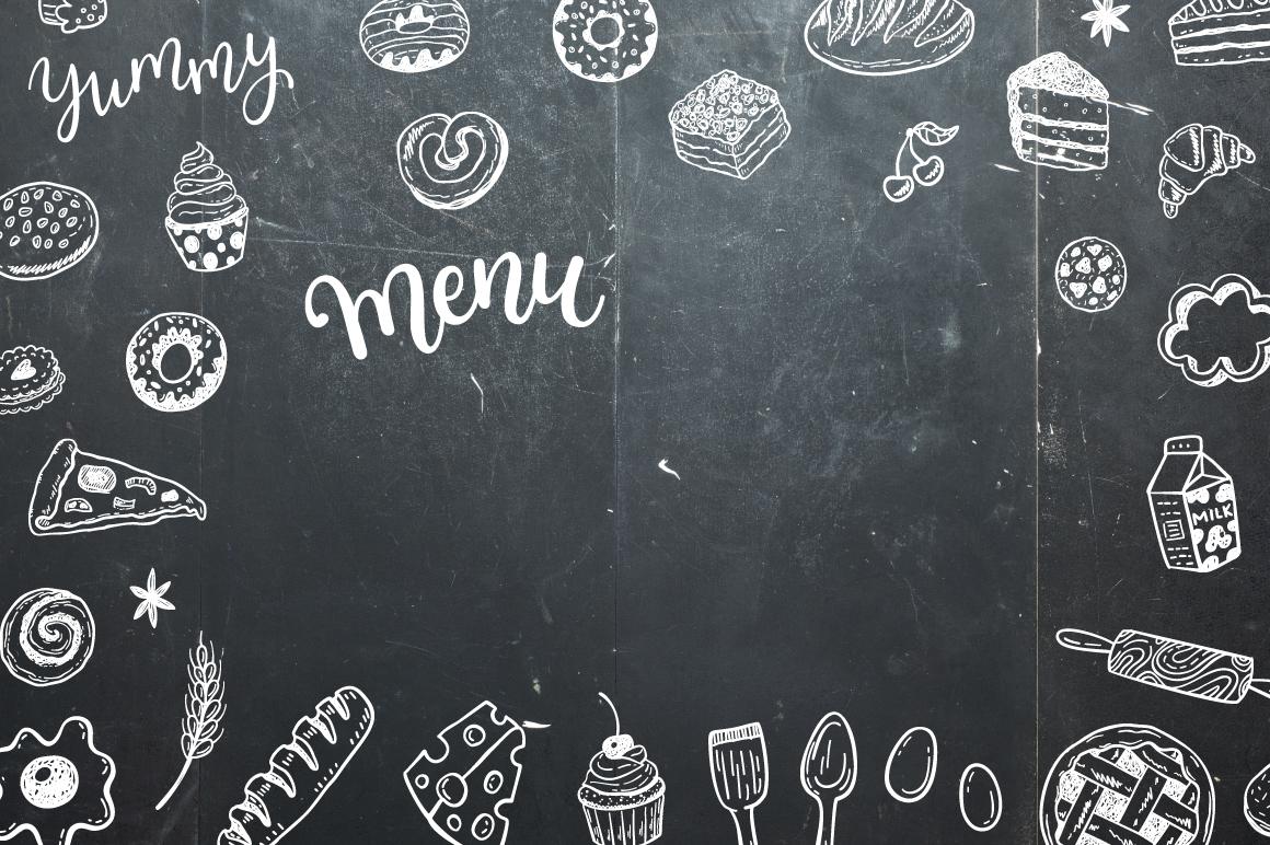 Food dooles set + patterns example image 4