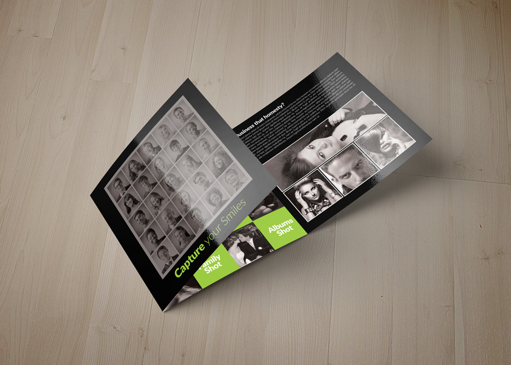 Photography Square Trifold Brochure example image 3