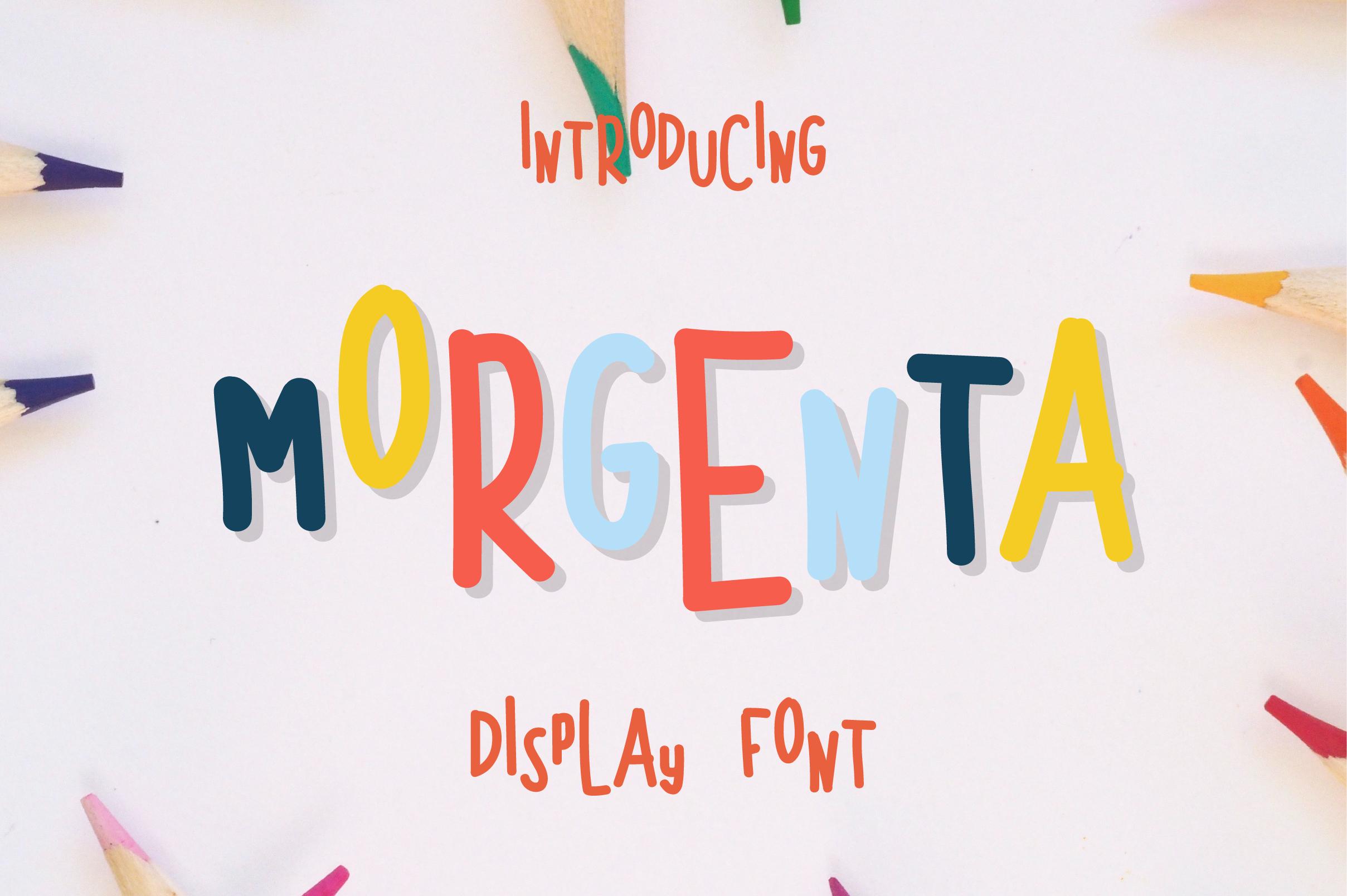 Morgenta Display Font example image 1