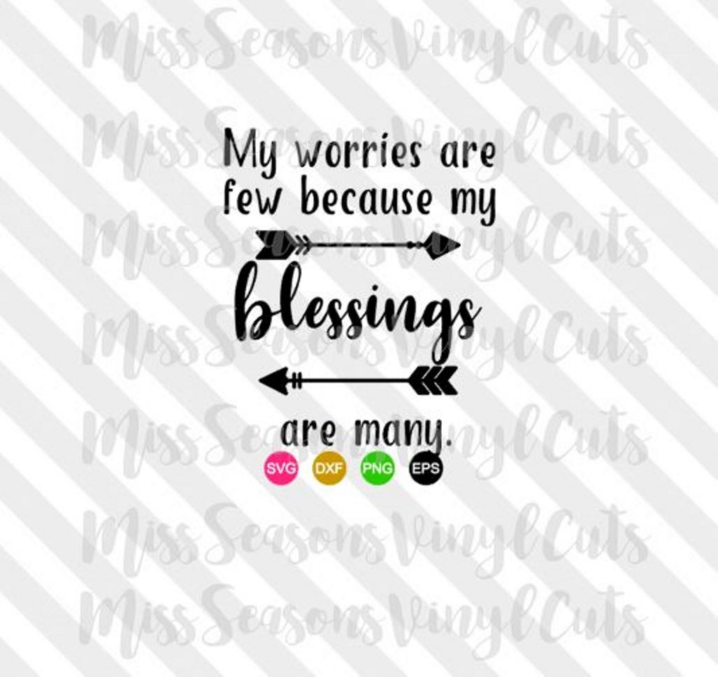 My Blessings are Many SVG  example image 1