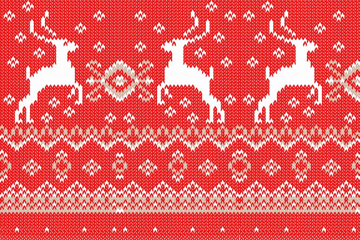 Christmas wool seamless pattern set. example image 5