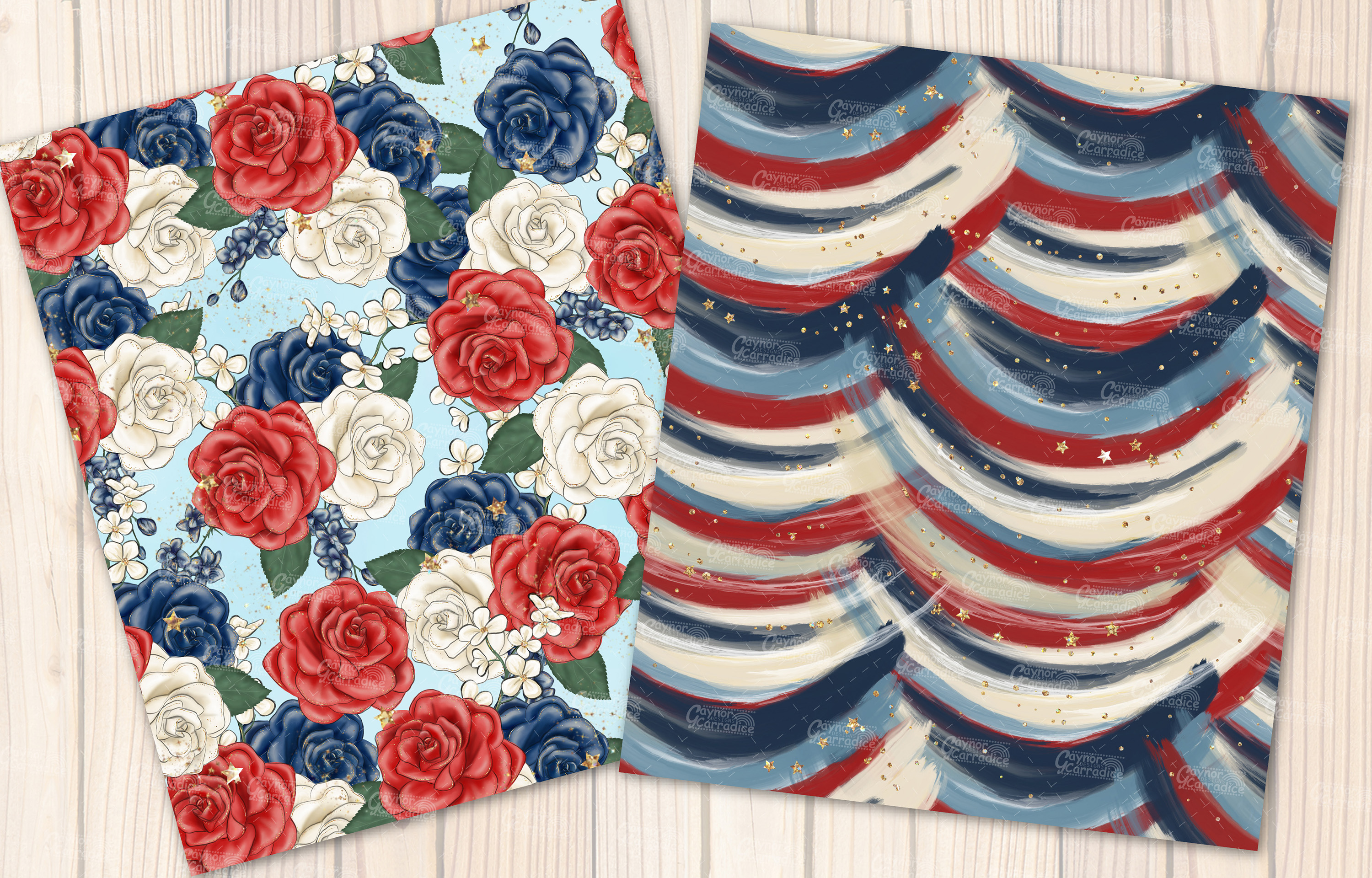 4th of July seamless pattern collection example image 3