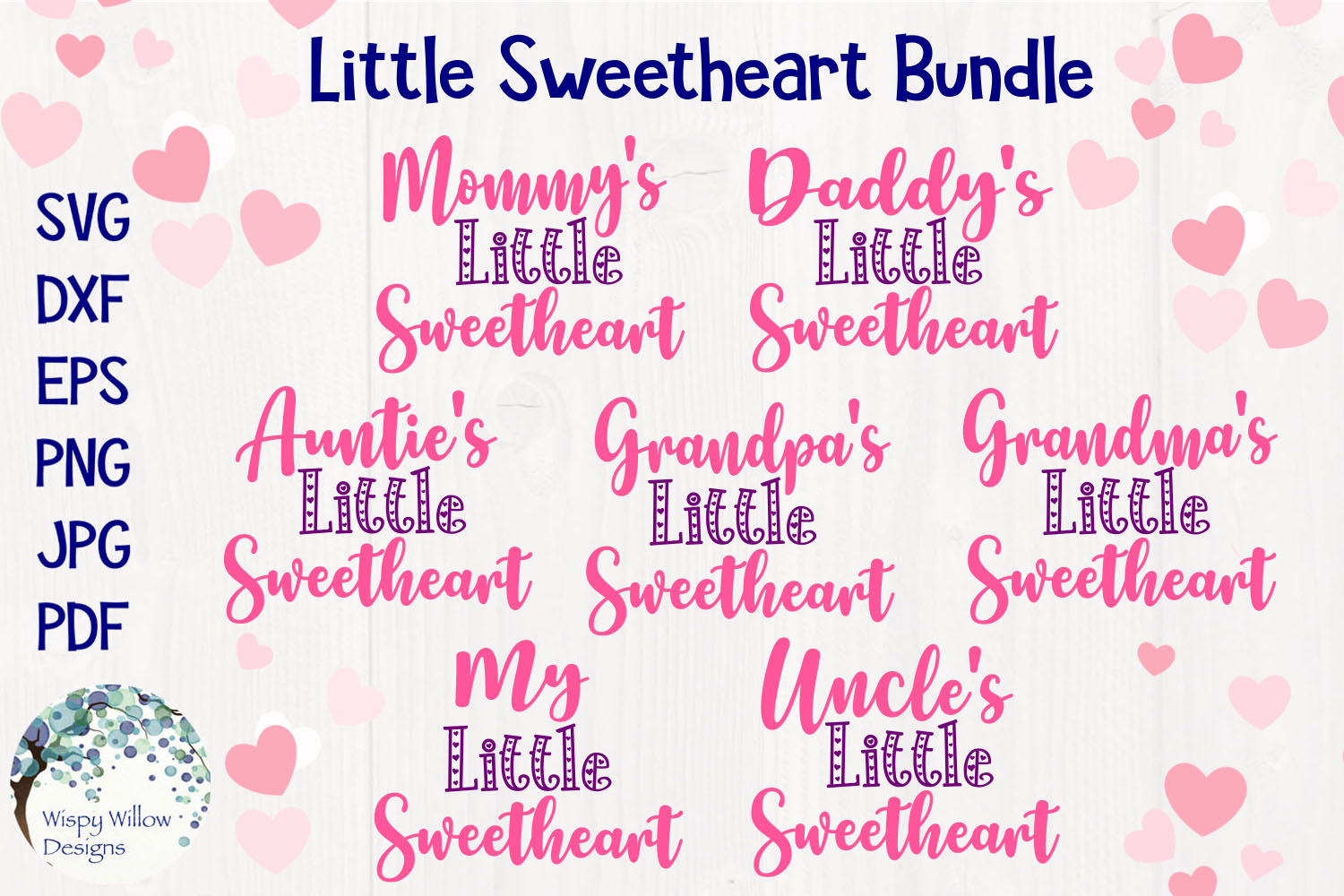 Little Sweetheart SVG Bundle | Valentine's Day example image 1