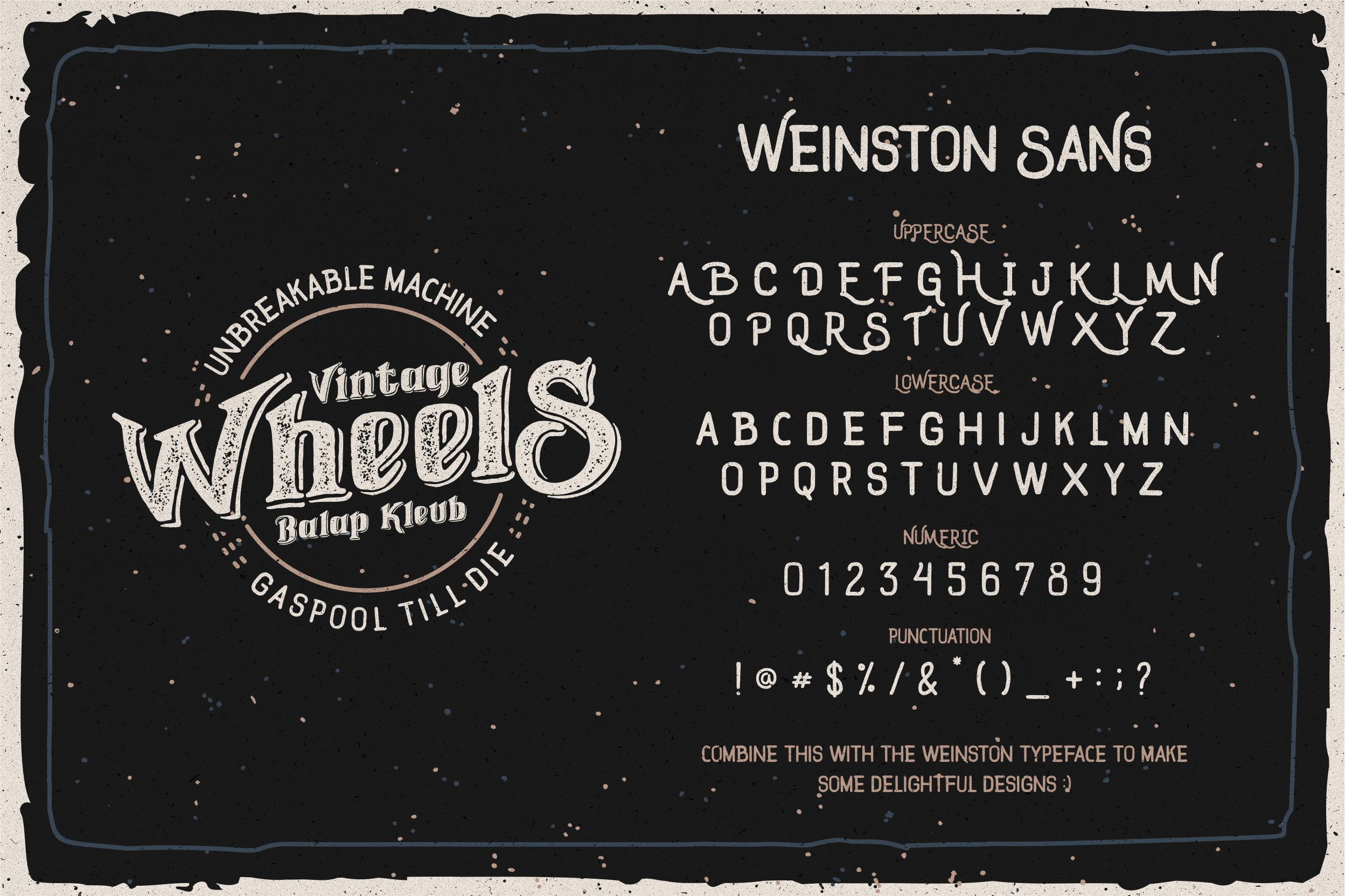 Weinston Typeface & Extras example image 3