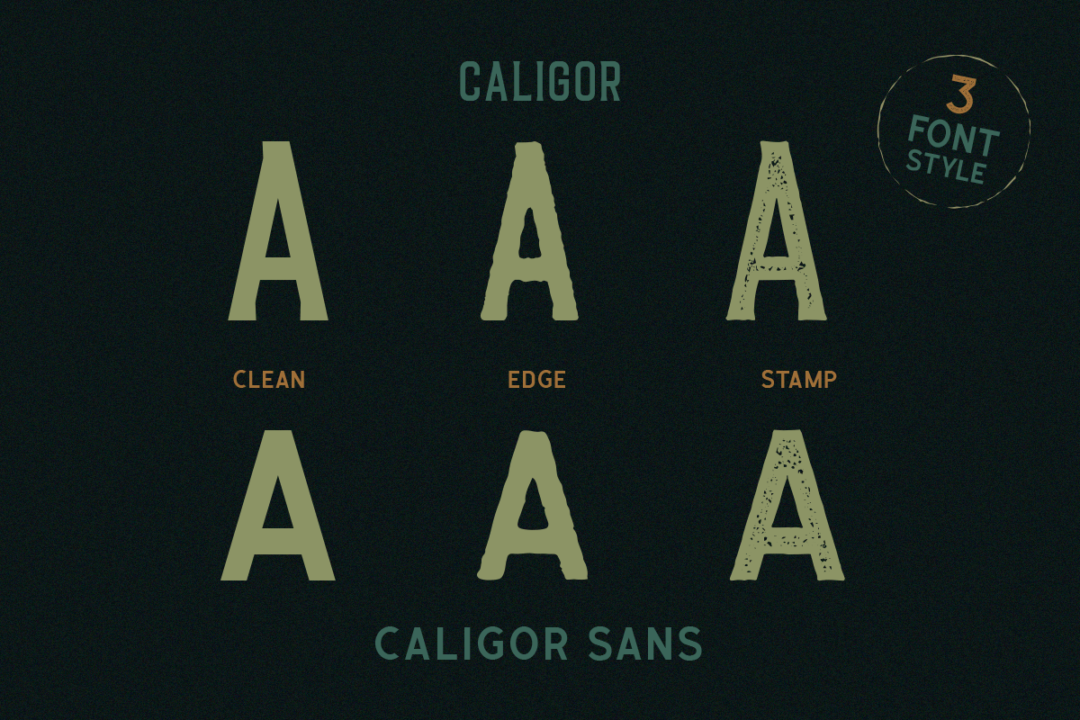CALIGOR - Display Typeface example image 3