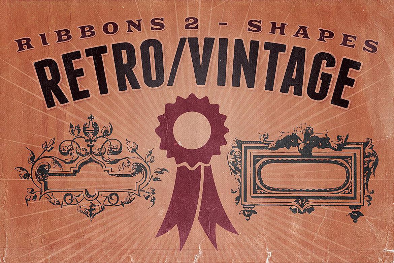 Retro/Vintage shapes - Ribbons 2 example image 1