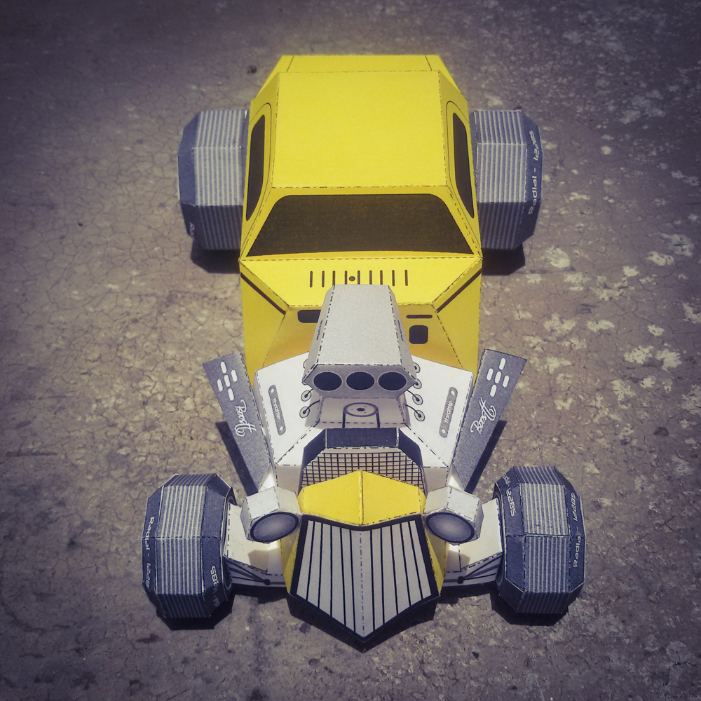 DIY Paper Car - 3d papercraft example image 5