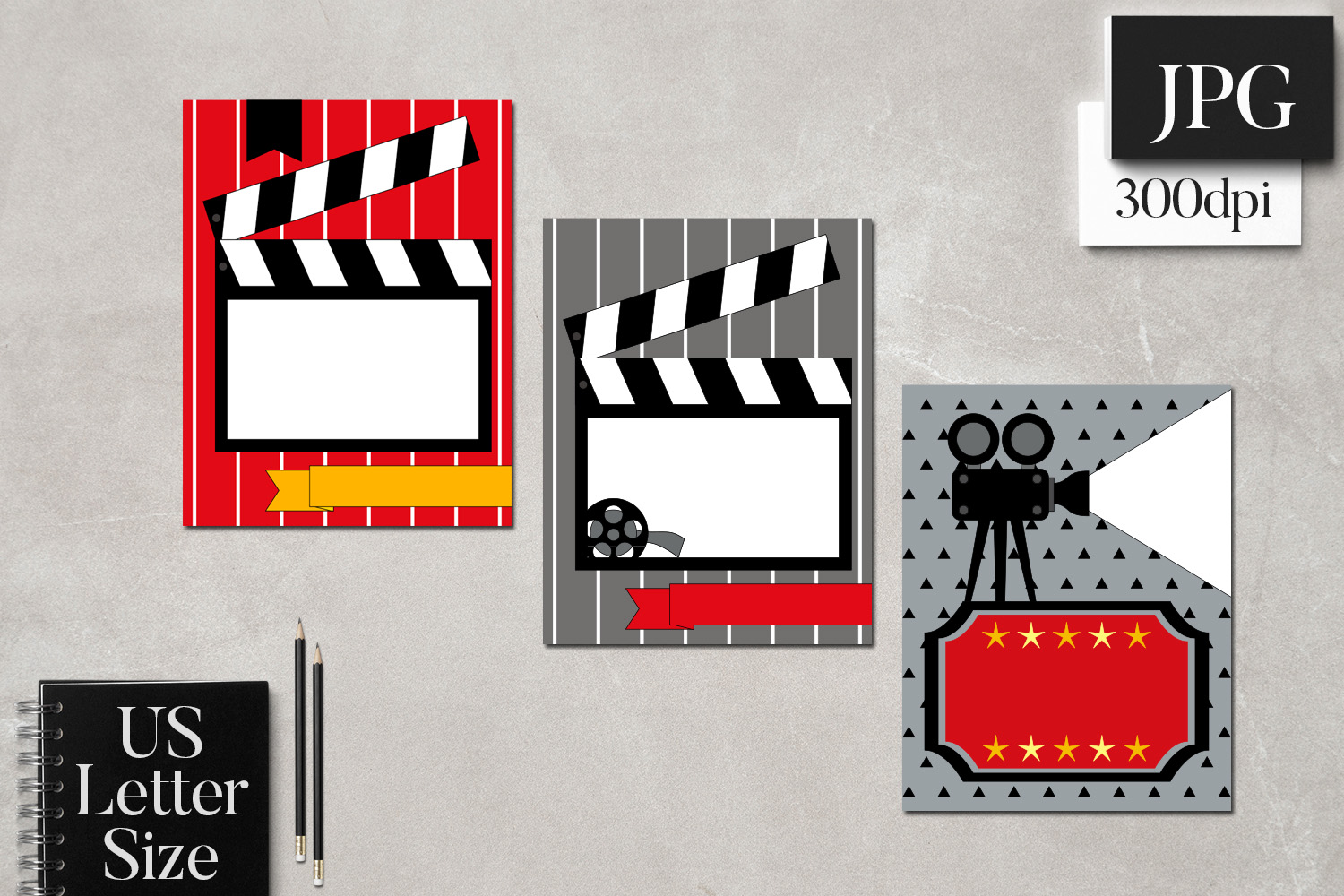 Movie Night Planner Binder Page Cover Templates example image 2