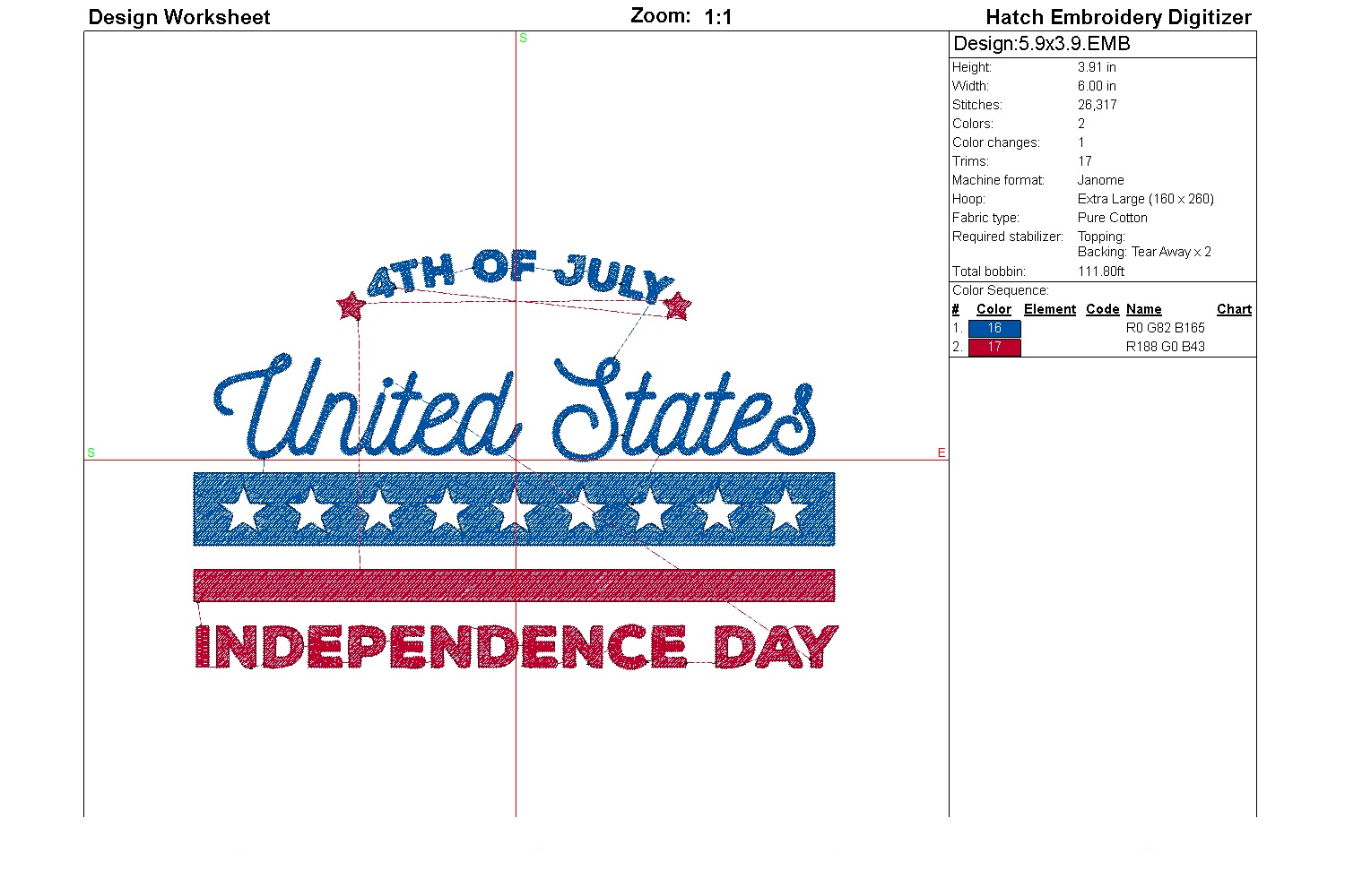 July 4th Embroidery | Independence day | Machine embroidery| example image 4
