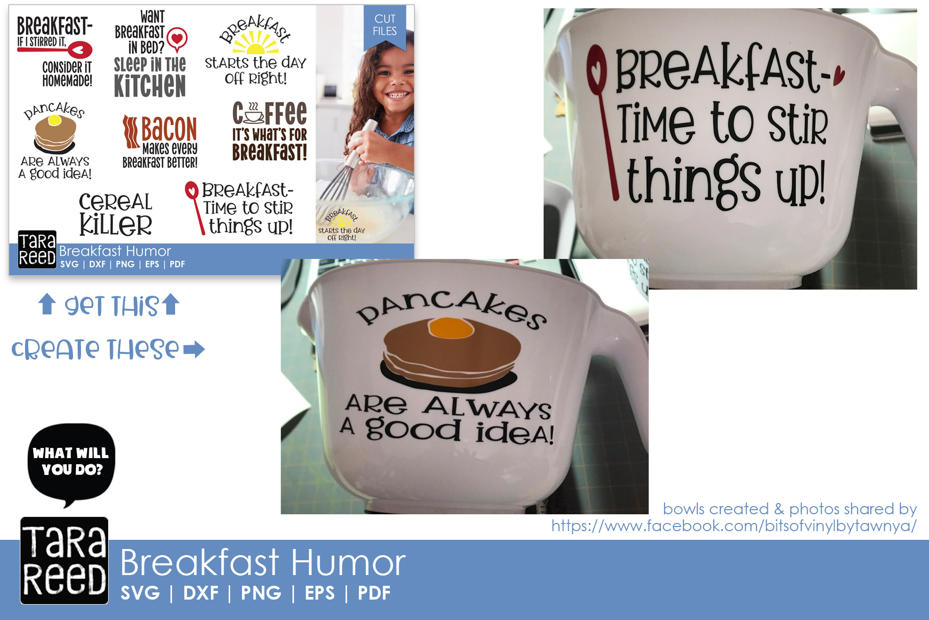 Breakfast Humor - Food SVG and Cut Files for Crafters example image 3