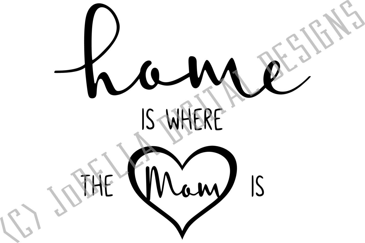 Mom SVG, Sublimation Design and Mother's Day Printable example image 3