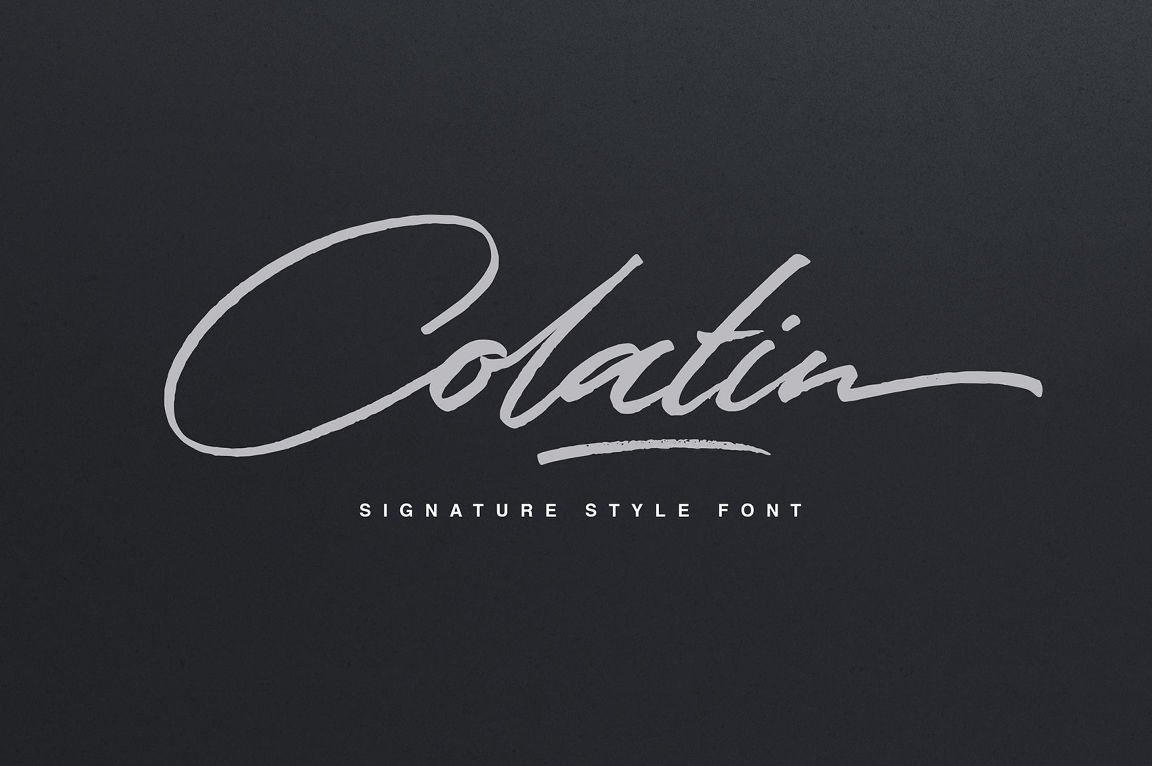Colatin Script example image 1