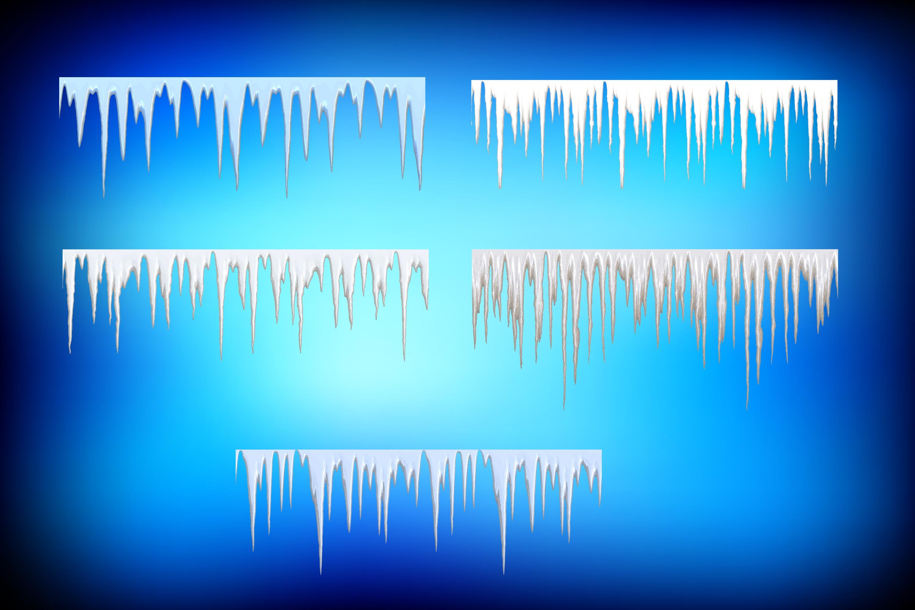 10 Icicle Vector Illustrator Pattern Ice Brushes example image 4