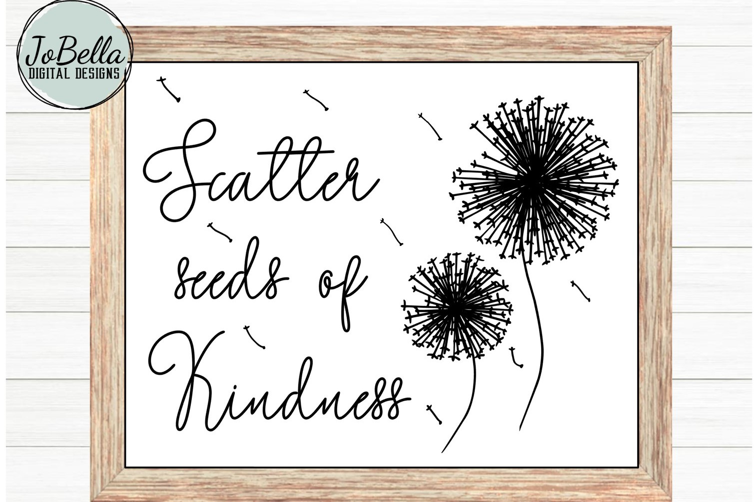 Kindness SVG and Printable- Seeds of Kindness with Dandelion example image 2