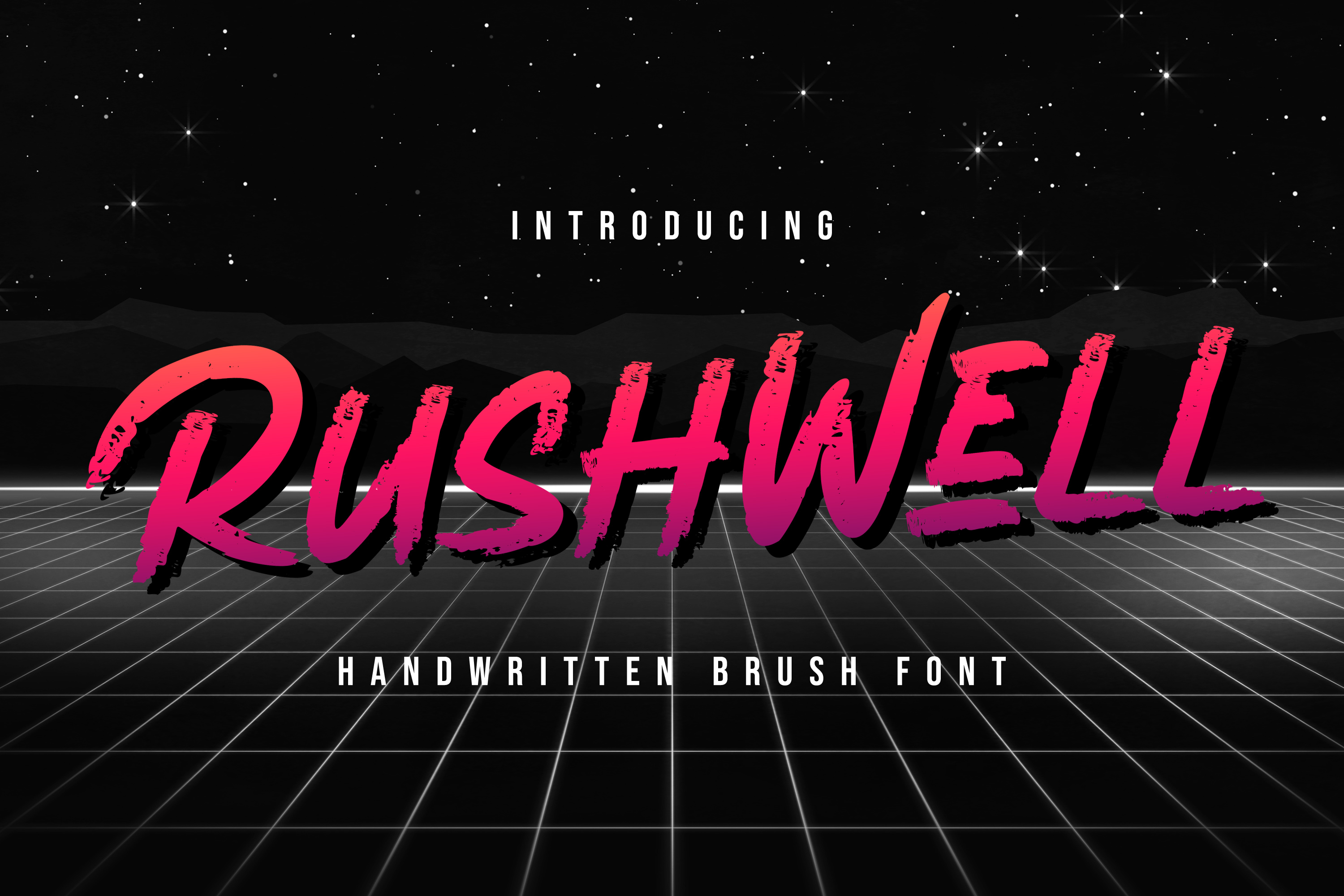 Rushwell - Brush Font example image 1