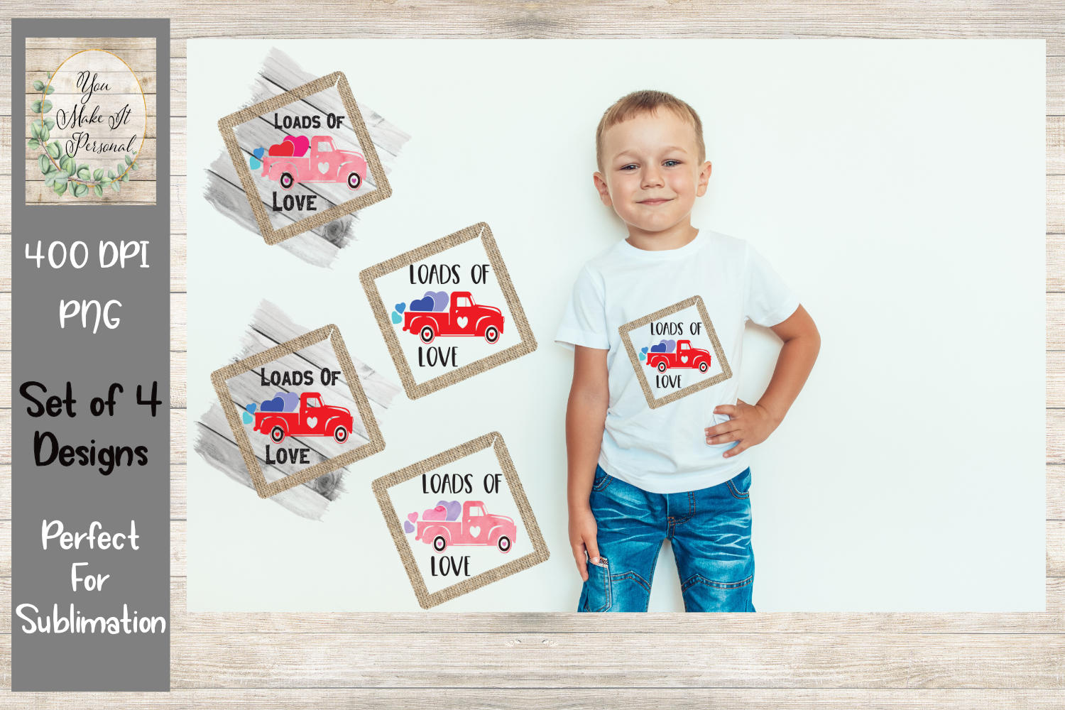 Loads Of Love - Design Bundle - Rustic Trucks example image 1