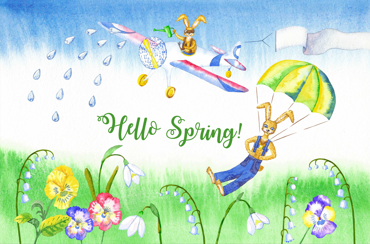 Welcome Spring! Rabbits Descent example image 5