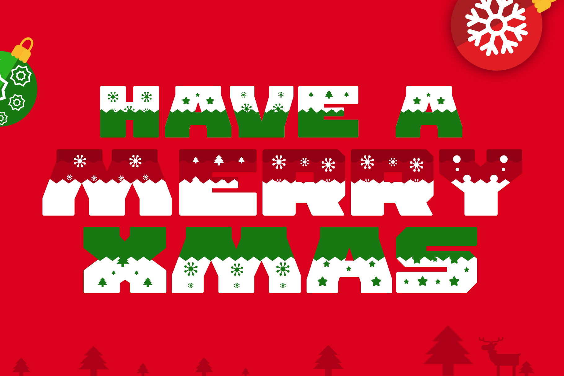 Ogra Clause Layered Christmas Font example image 4