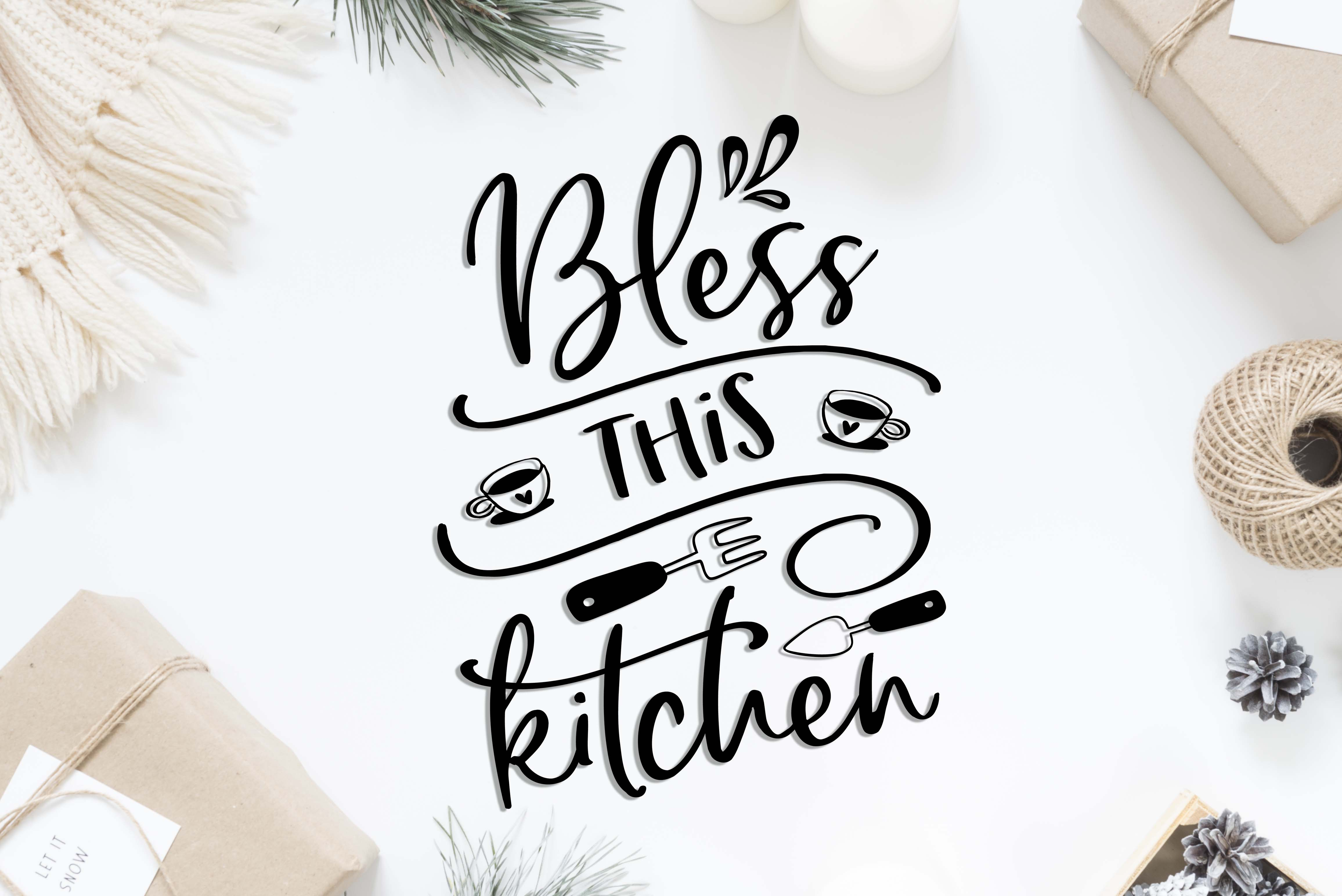 Bless This Kitchen SVG DXF PNG EPS example image 2