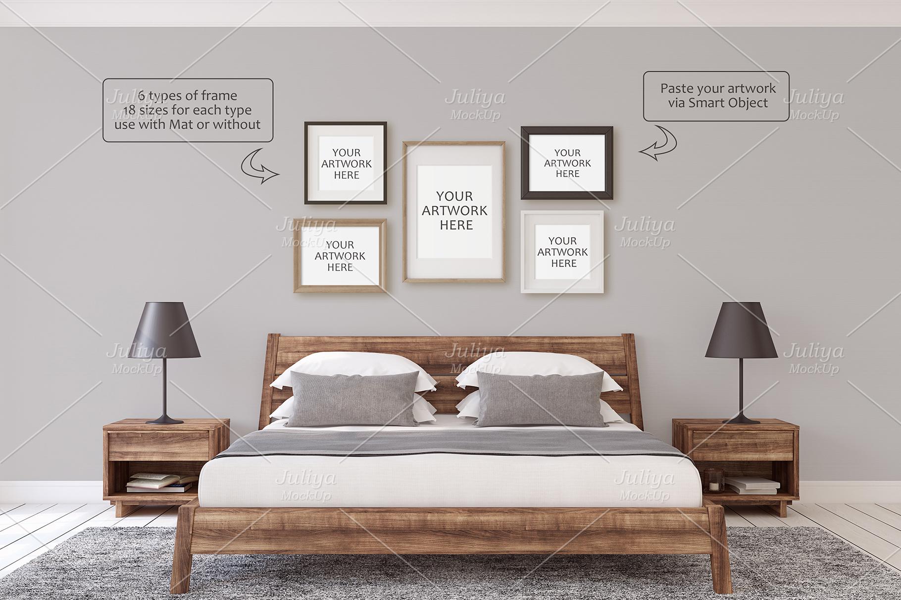Men's Interior. Wall&Frames Mockup. example image 5