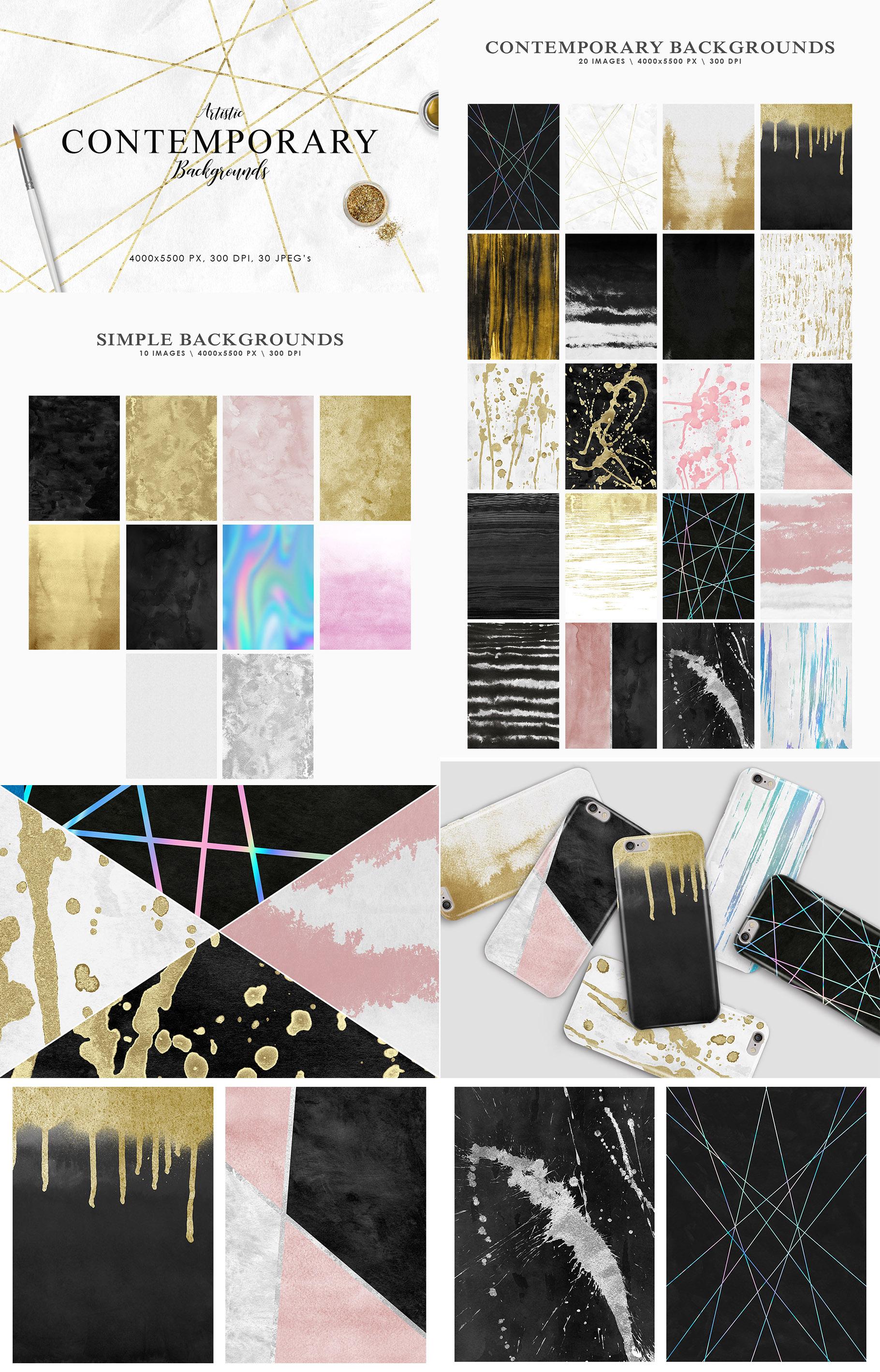 Aesthetic Backgrounds BUNDLE example image 5