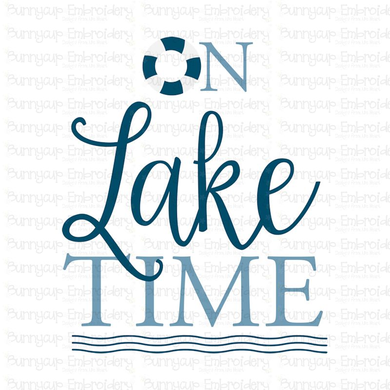 On Lake Time - SVG, Clipart, Printable example image 2