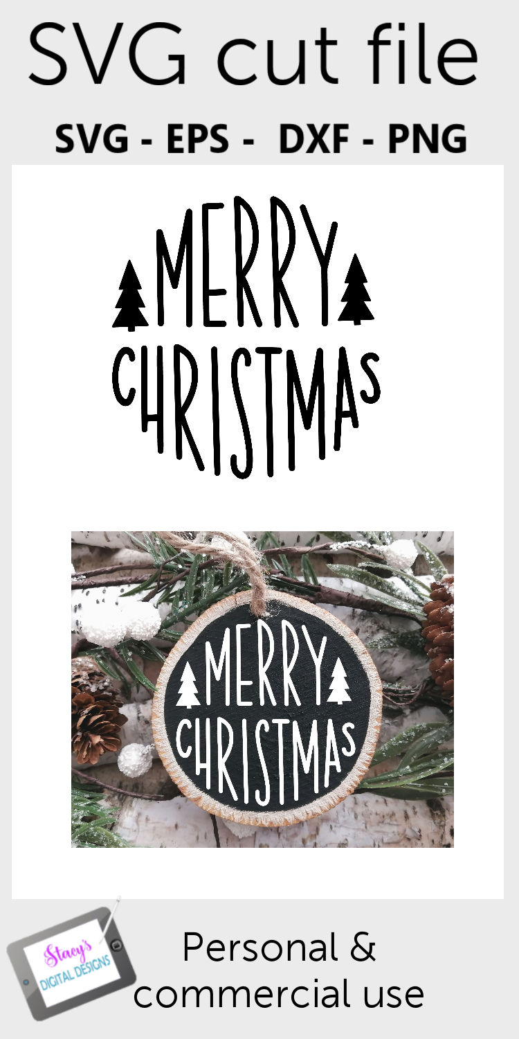 Christmas Ornament SVG - Merry Christmas - Round example image 2