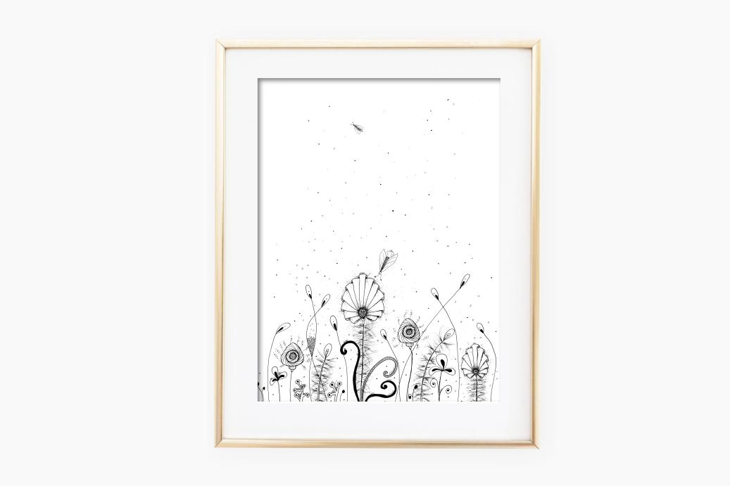 Floral Doodle Art, A1, SVG example image 2