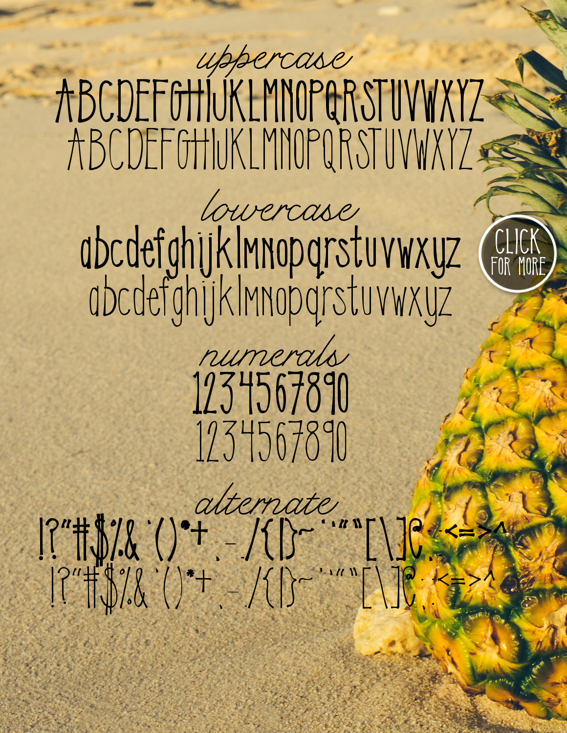 Sweet Pineapple Typeface example image 2
