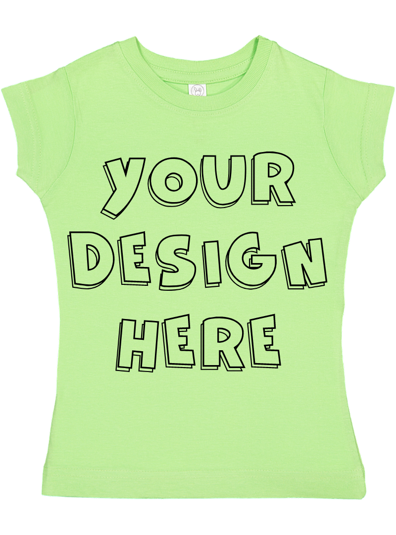 Toddler Gilrs Flat Jersey T Shirt Mockups - 17 example image 8