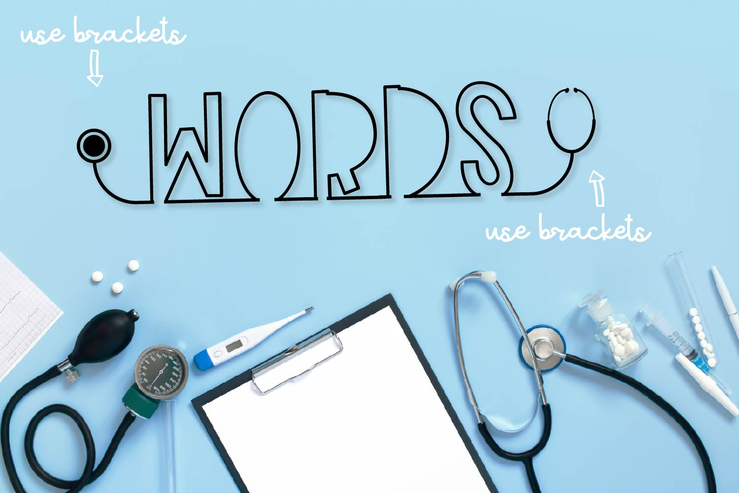 Clinicals - A Stethoscope Font Perfect for Nurses! example image 6
